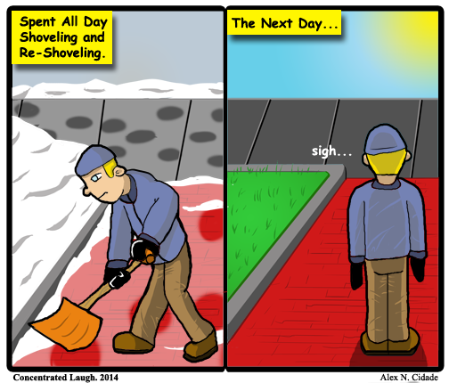 Shoveling is the suns job