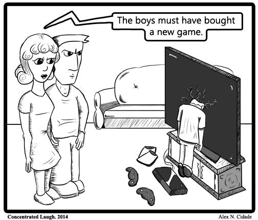 through the tv